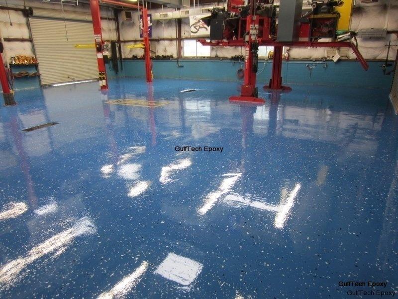 Epoxy concrete floor coatings gufftech epoxy for Garage concrete cleaner